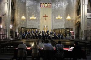 Canta al Mar -kuorofestivaali 2014, Lain Huudon esiintyminen sekakuorojen A1-sarjassa, Santa Maria del Pi -kirkko, Barcelona. Kuva Interkultur.